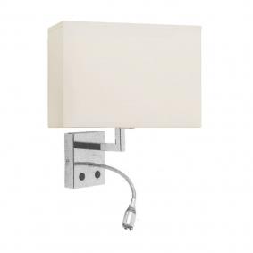 Lampada da parete Hotel W LED + LED 1W max 60W  - 1