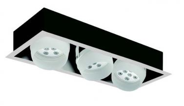 Faretti orientabili LED Nota RC 3 81W - Cod. 362824/C