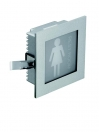 Lampada per pittogrammi da incasso LED Lione Woman Rest Room Donna 1W - Cod. 90.008/2/012