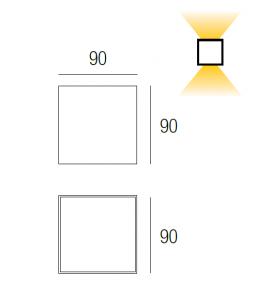 Lampada Cube Silver max 50W  - 2