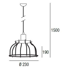 Lampada a sospensione Workshop max 60W  - 2