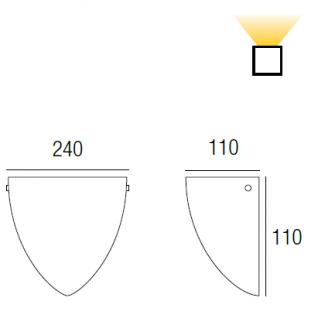 Applique Scudo Bianco 60W  - 2