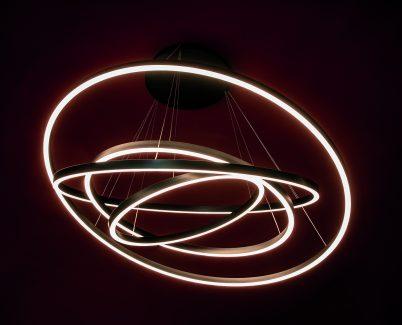 AURA S 3 anelli LED Nera - 5